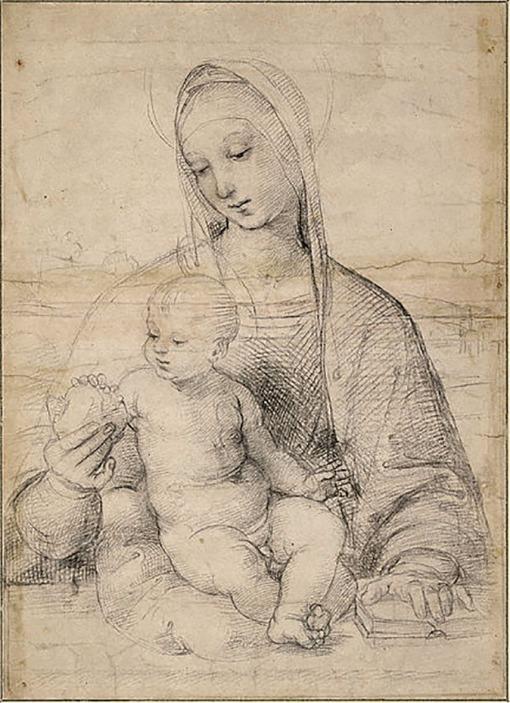 Raphael - Madonna of the Pomegranate, c. 1504