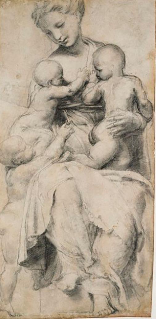 Raphael-Portrait of a Young Woman (La Fornarina) 1518-19