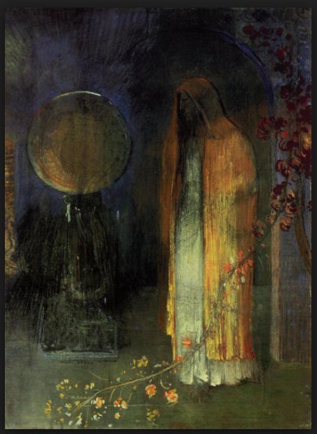 The yellow cape - Odilon Redon 1895