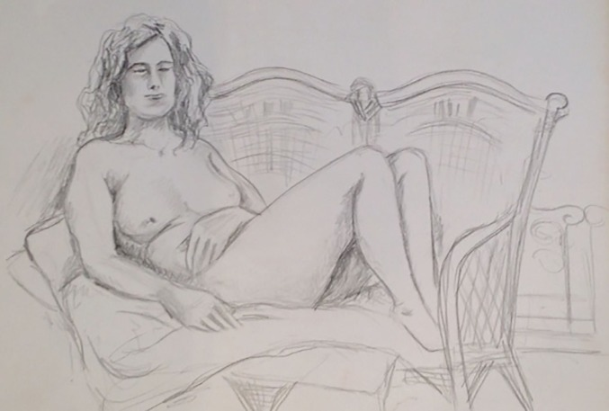 Reclining nude study