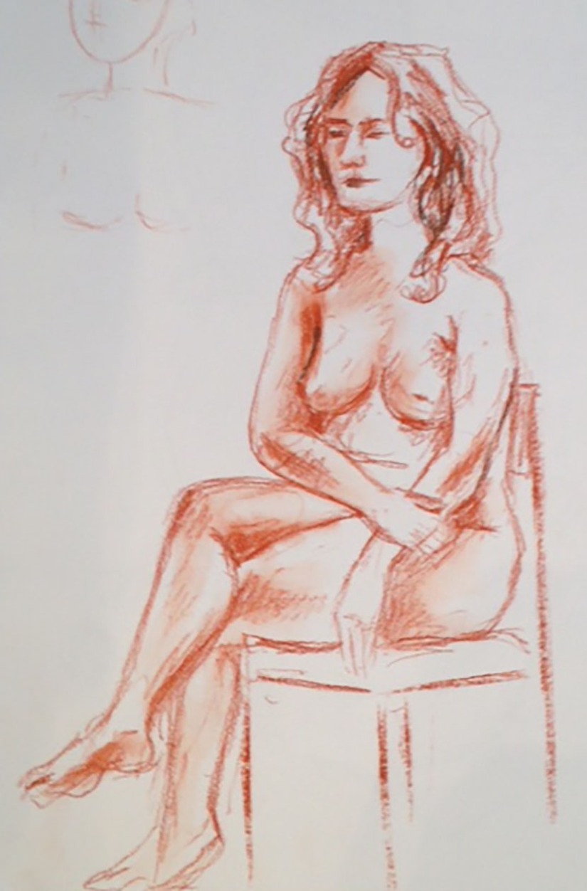 Sitting nude conte
