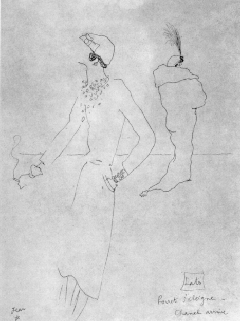 Channel drawing Jean Cocteau 1928
