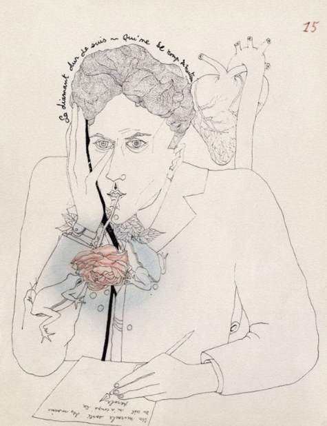 Jean Paul Cocteau - Self Portrait 1924
