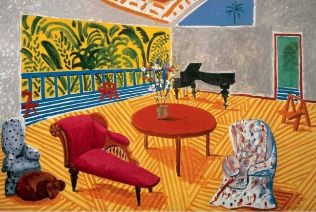 David Hockney large interior Los Angeles