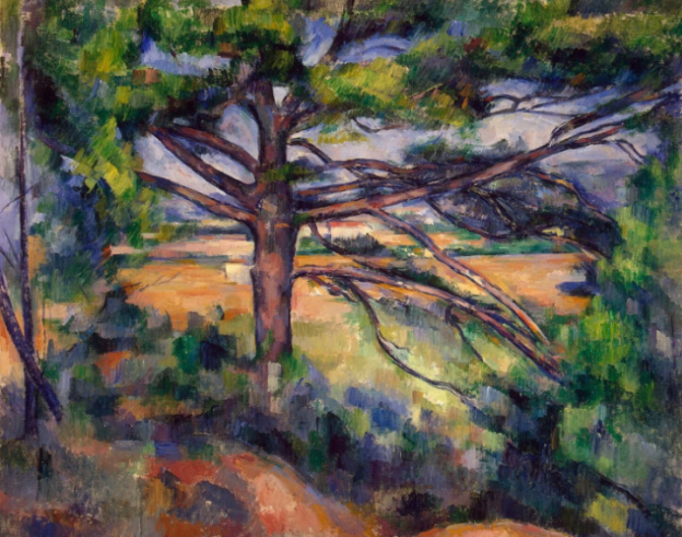Paul Cézanne (1839–1906),(Large Pine and Red Earth) (1890–95), oil on canvas