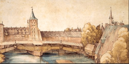 Albrecht durer - Covered bridge - Nuremburg