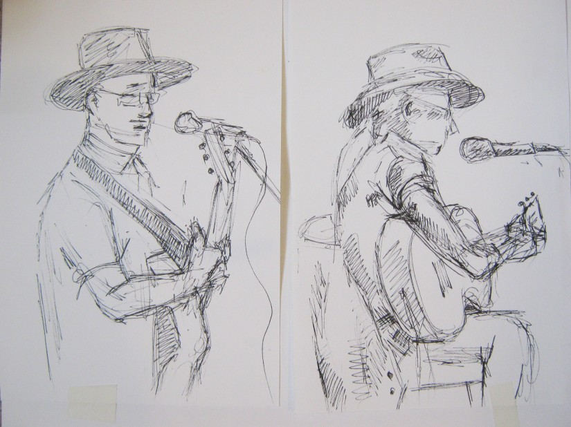 Blues singers sketches 2