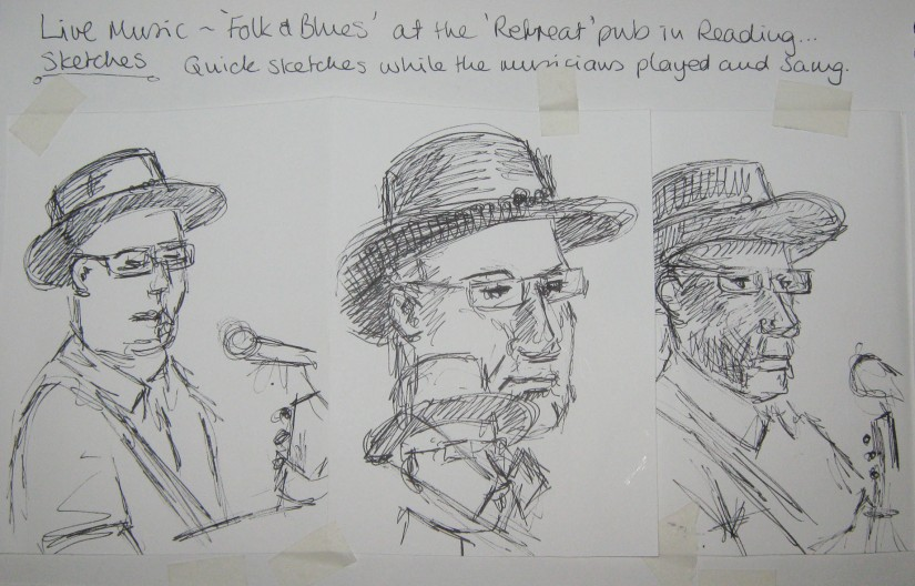 Blues singers sketches