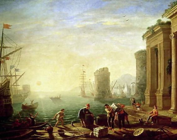 Claude Lorrain - Morning at the Port, 1640
