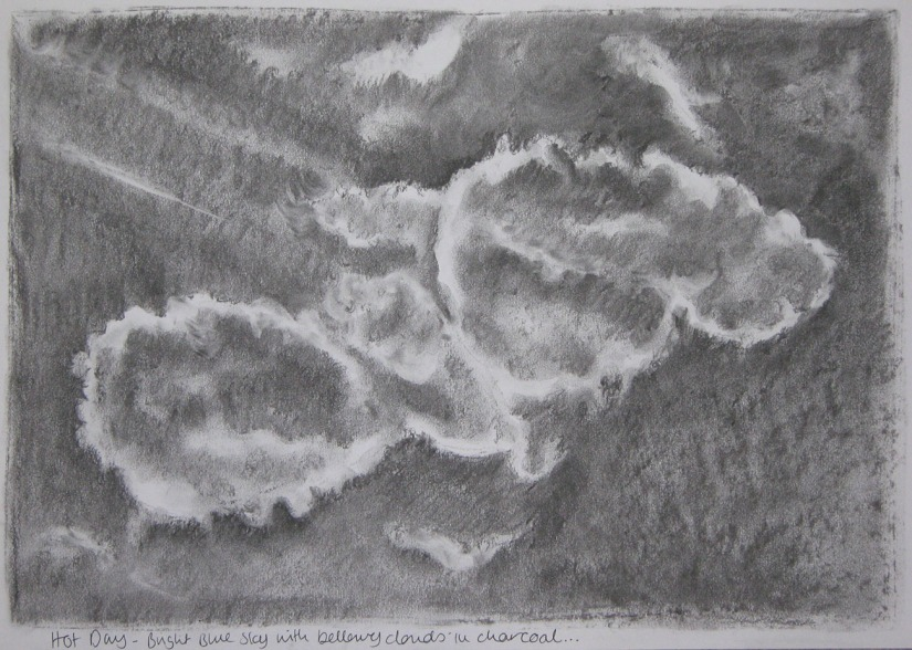 Cloud formation - charcoal
