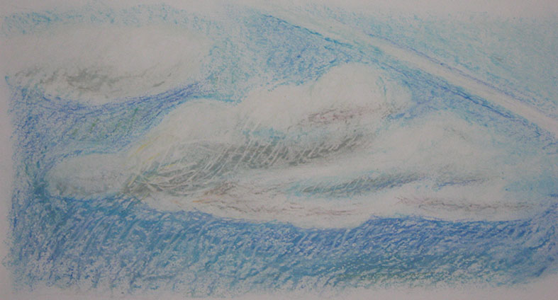 Cloud formation Oil pastels