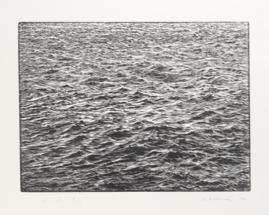 Vija Celmins - 'Ocean Surface' Woodcut, 1992