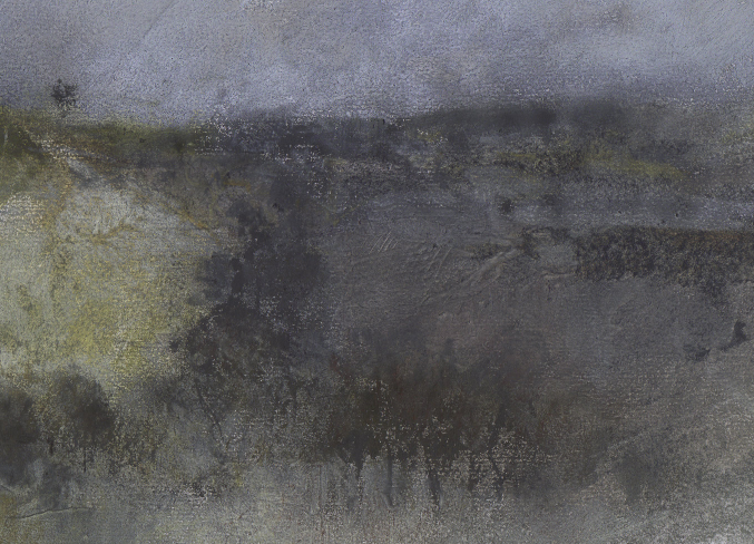 Nicholas Herbert ~ Bison Hill ~ mixed media, 2015
