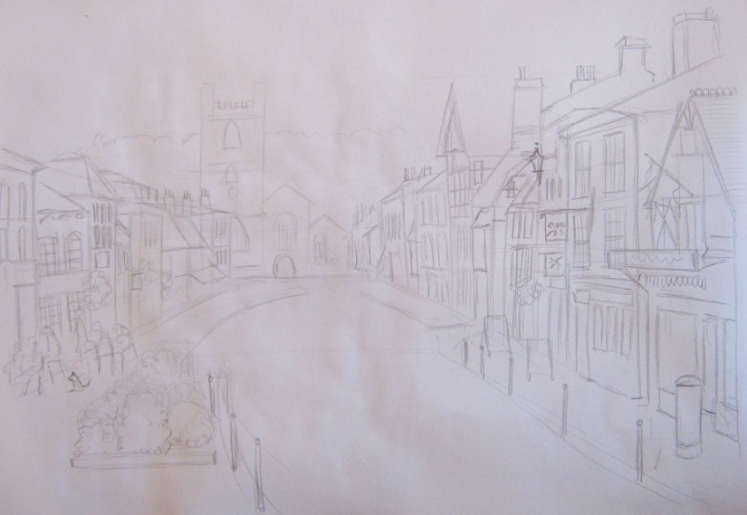 Pencil Sketch of Henley