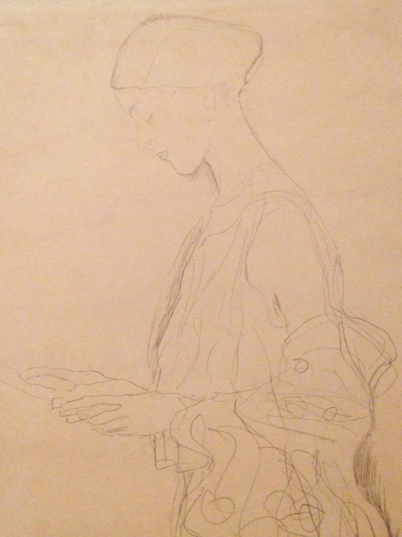 Klimt figure standing