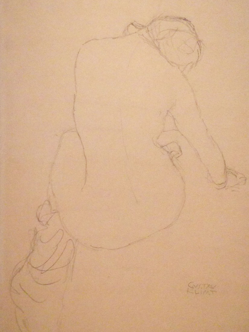 Klimt ~ seated figure drawing