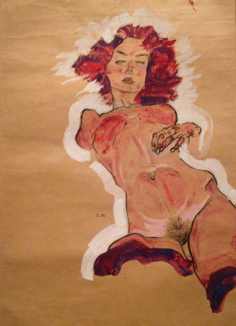 Schiele ~ reclining figure in qoache
