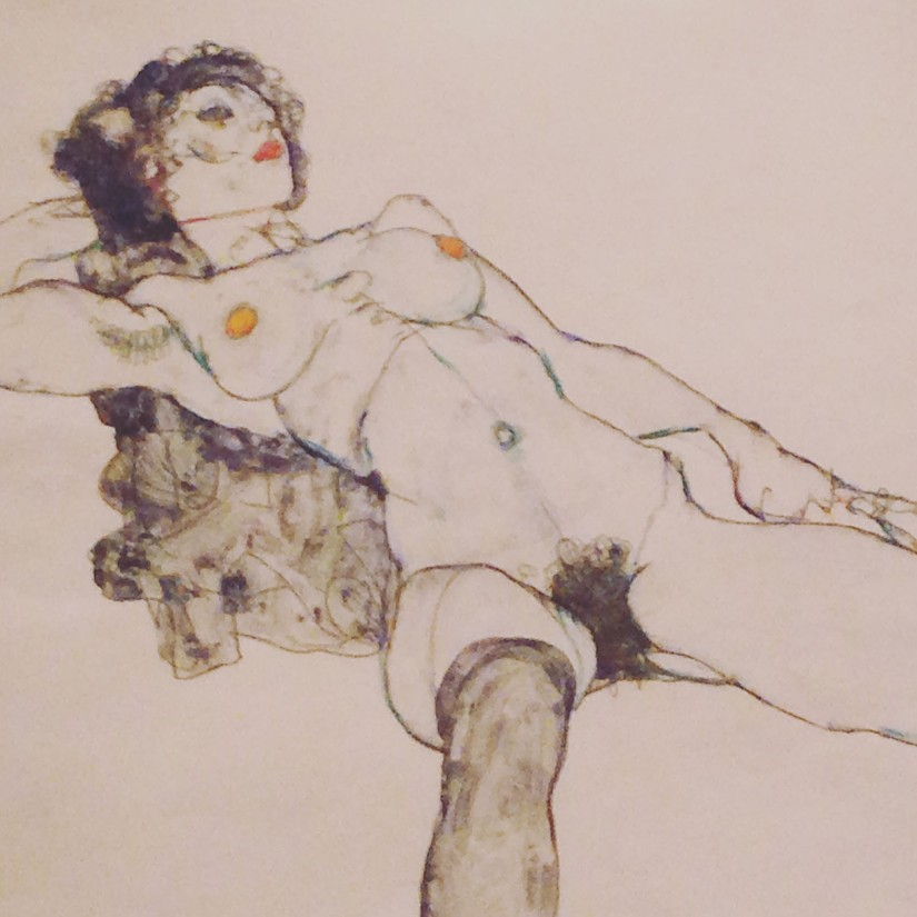 Schiele ~ reclining figure sketch