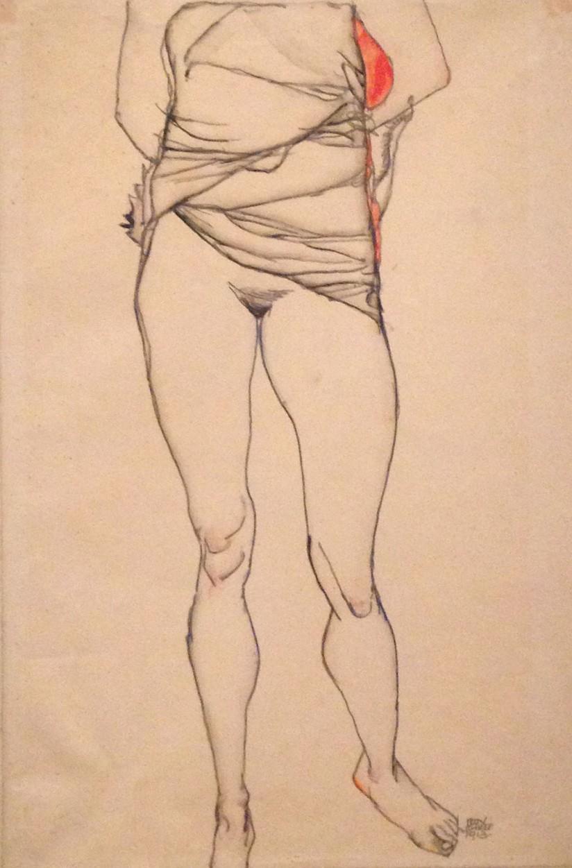 Schiele ~ standing figure sketch