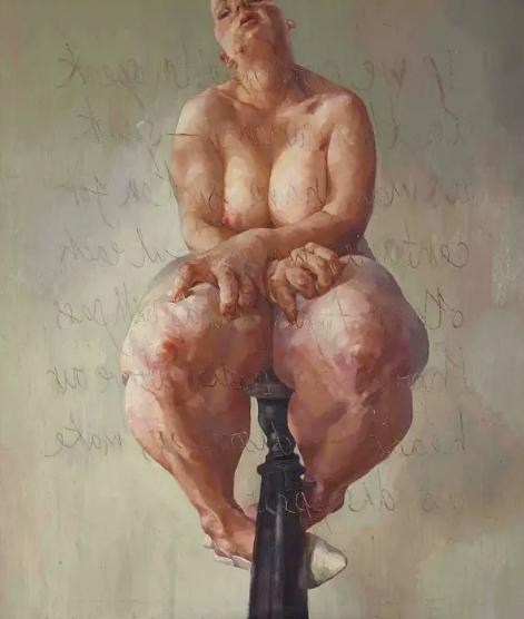 Jenny Saville 'propped'