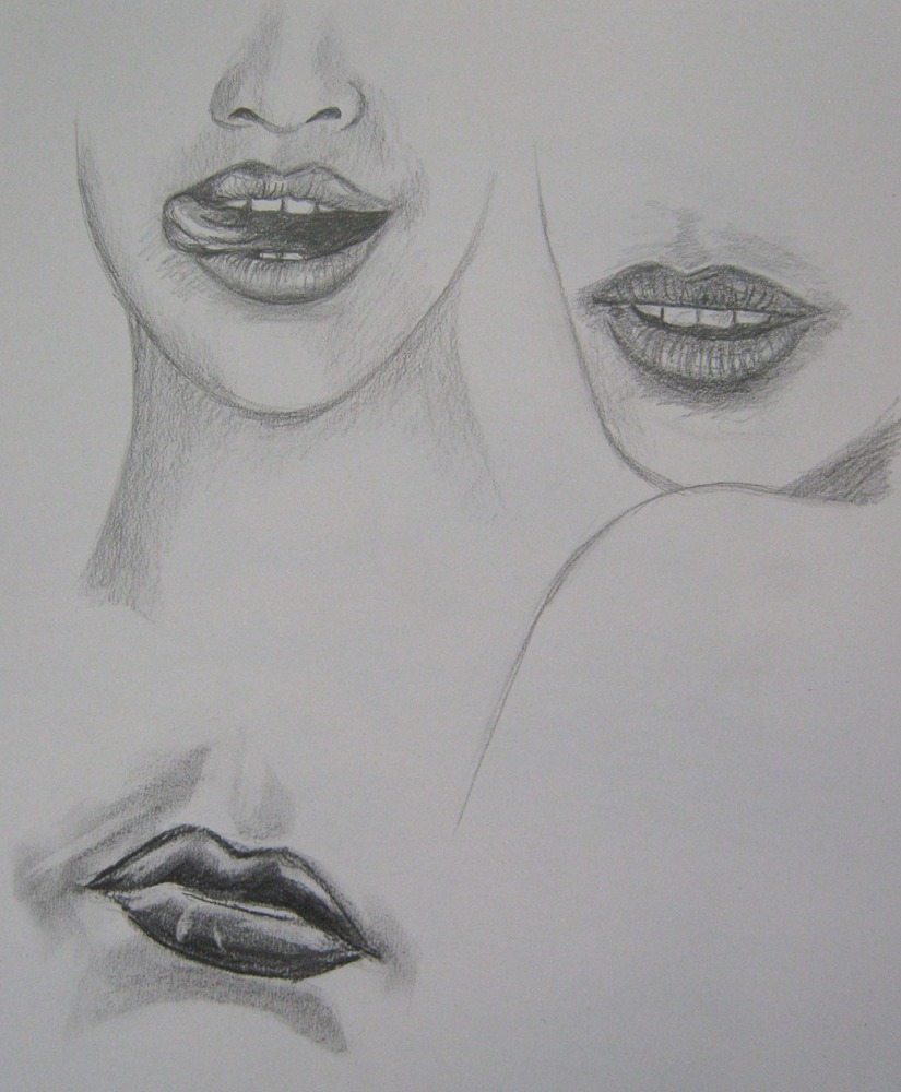 Pro 6 - The Head Facial Features - Female lips & mouths