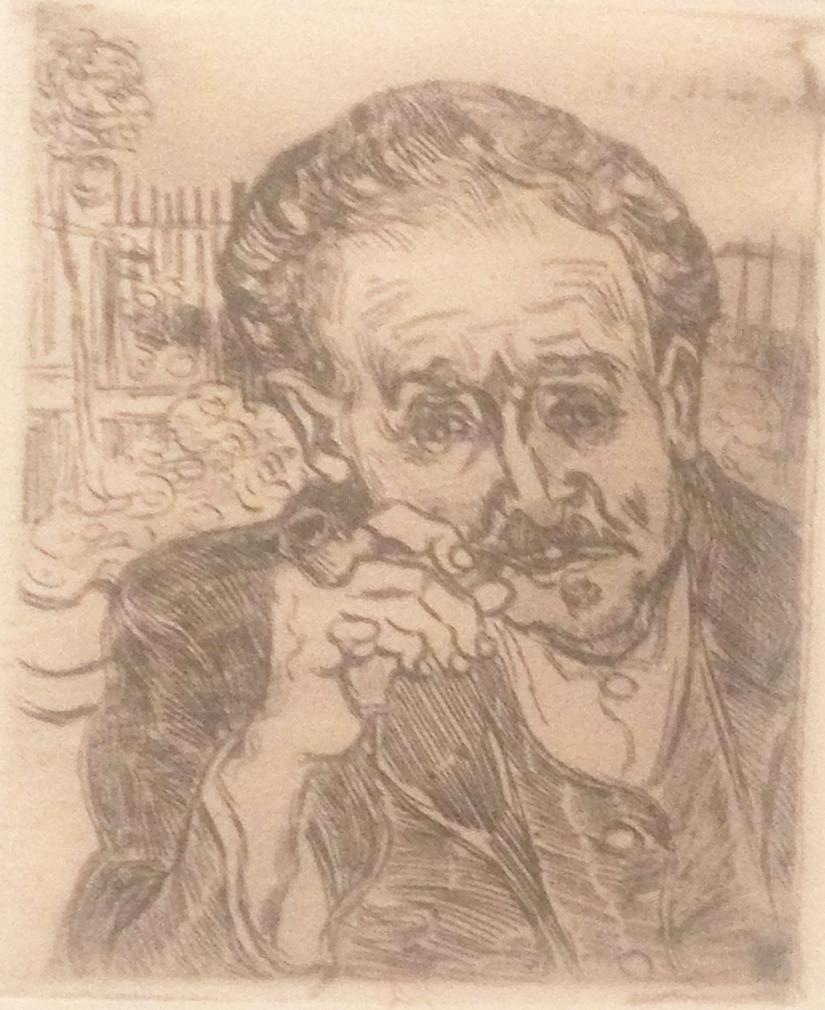Van Gogh - Paul Ferdinand Gachet etching