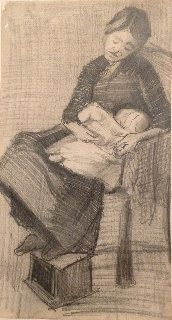 Van Gogh - Seated Mother with Child