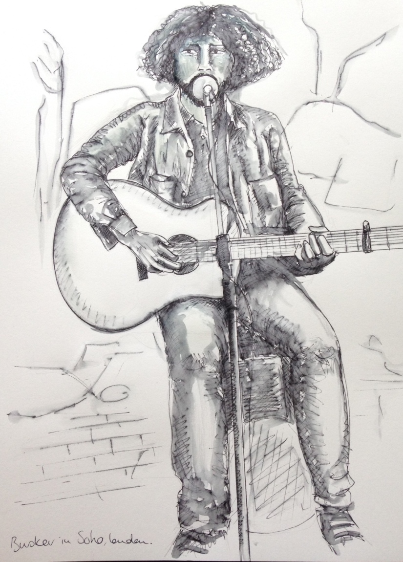 Busker ink and wash