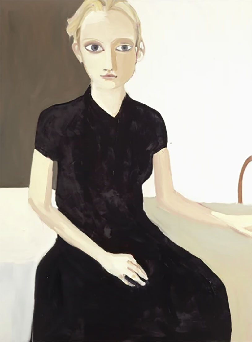 Chantel Joffe Blond Girl - Black Dress, 2005