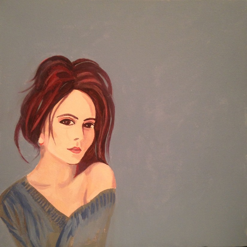 Female portrait auburn hair