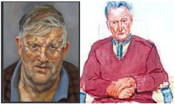 Hockney & Freud Portraits