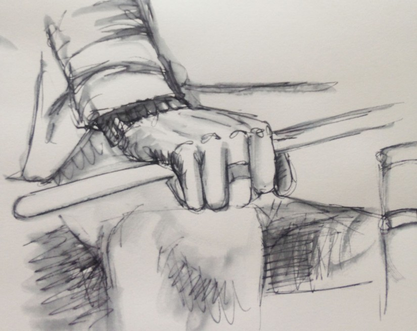 Musicians ~ drummer portrait sketch hand