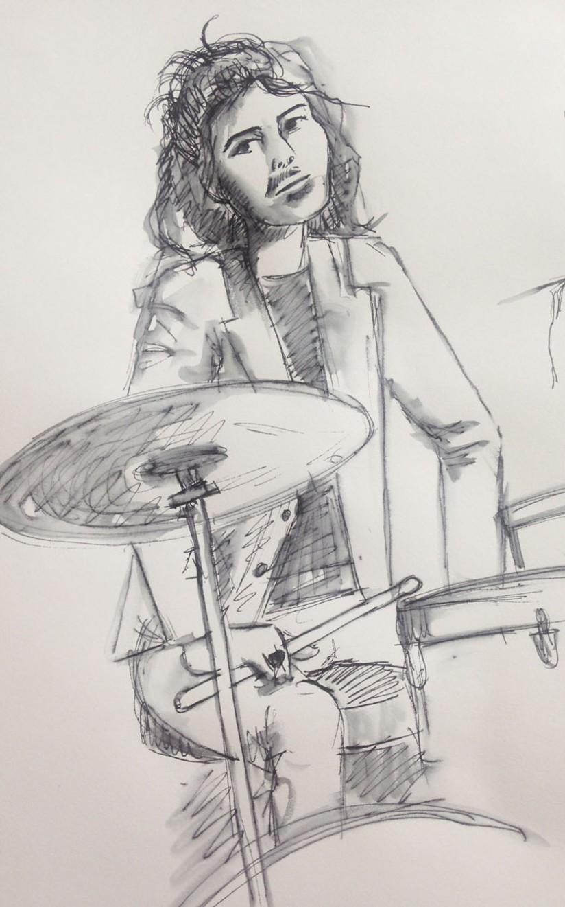 Musicians ~ drummer portrait sketch