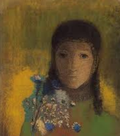 Women with flowers Odilon Redon