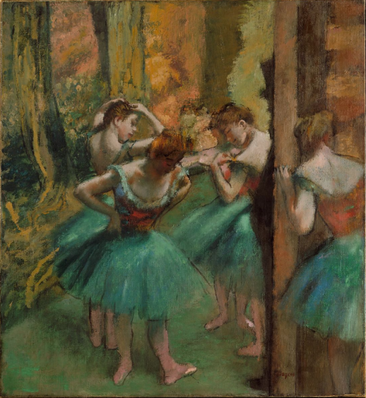 Degas - Dancers, pink and green 1890.