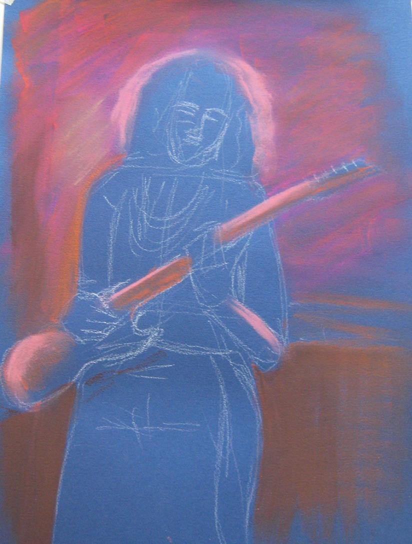 Drawing Skills - Part 5 - musician 'woody' pastel background washes