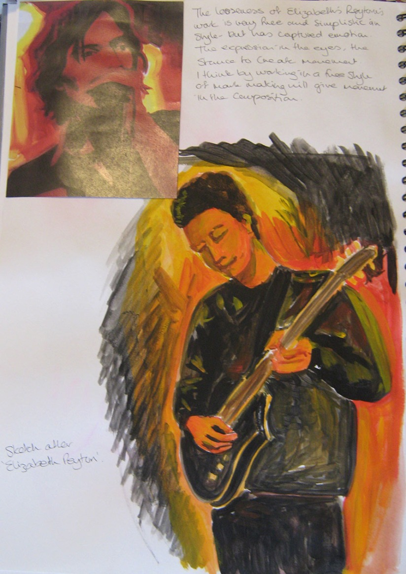 Drawing Skills - Part 5 - musicians - after Elizabeth Peyton