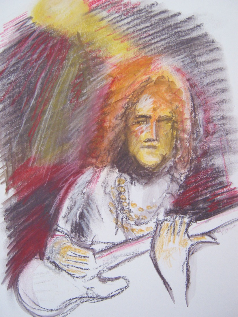 Drawing Skills - Part 5 - musicians pastels and colour sketch