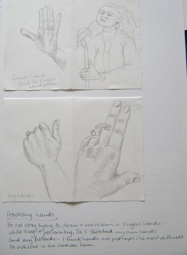 Musician Hand Sketches 1