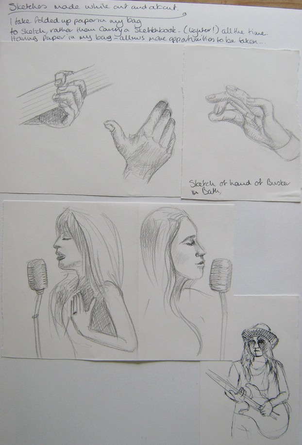 Musician Hand Sketches 2