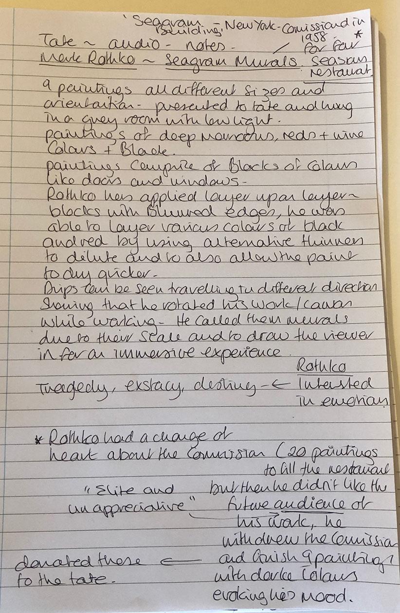 Rothko notes