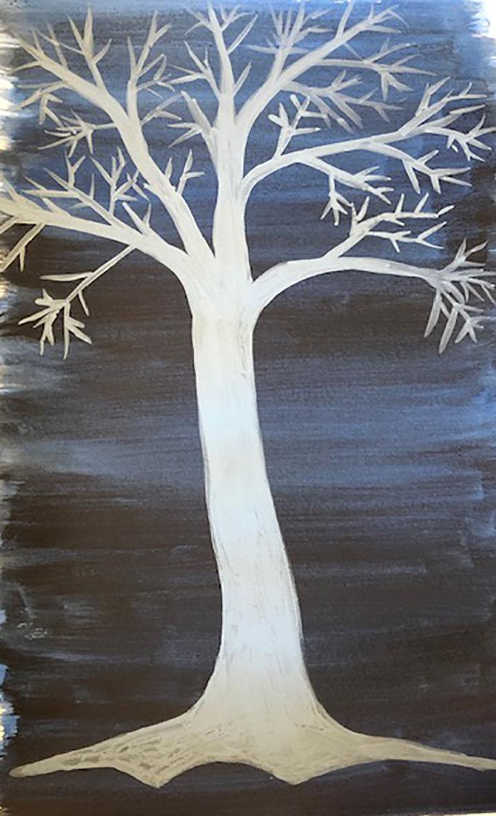 Transparent and opaque - Monochrome tree 1