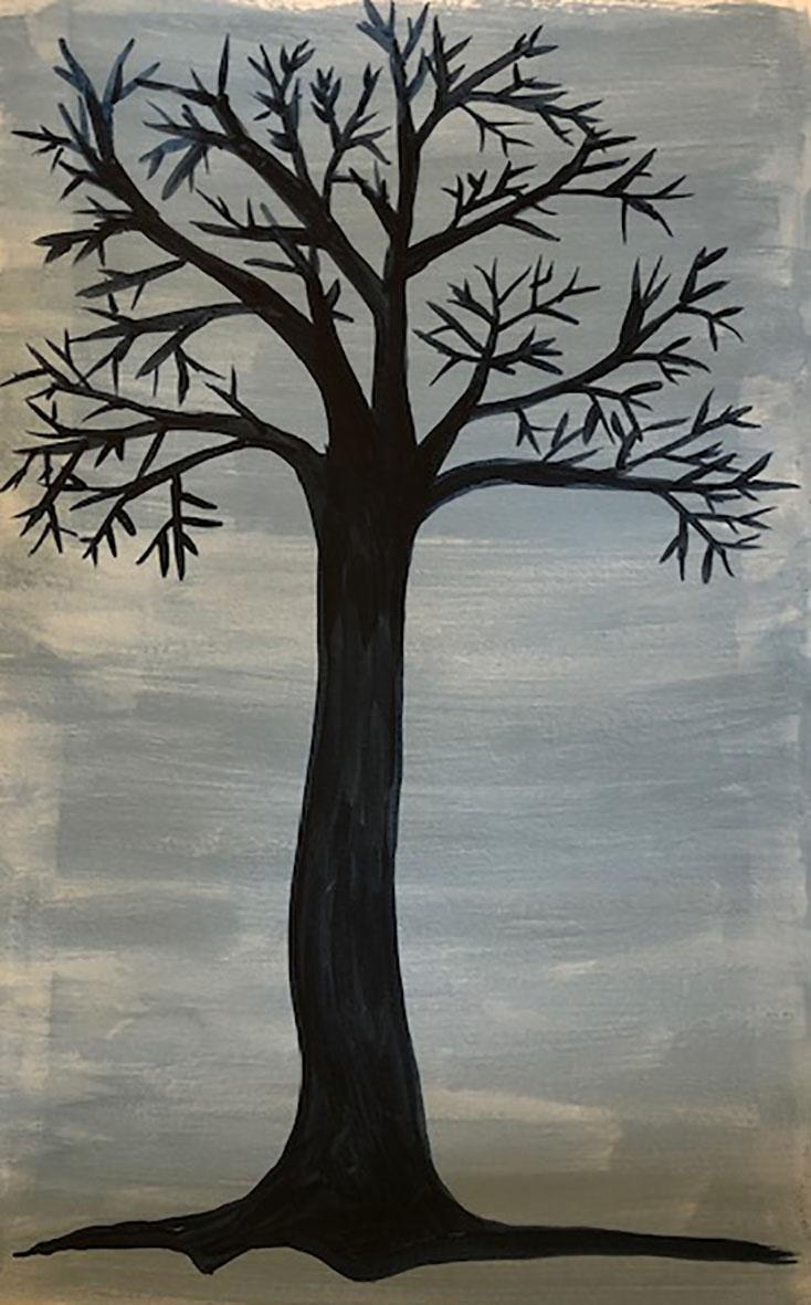 Transparent and opaque - Monochrome tree 2