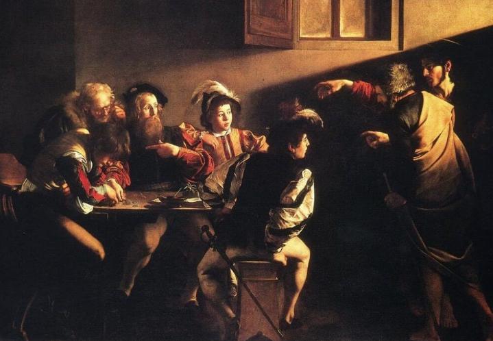 Calling of st matthew ~ caravaggio