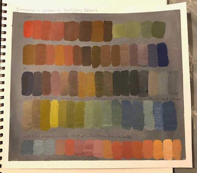Broken or Tertiary Colours