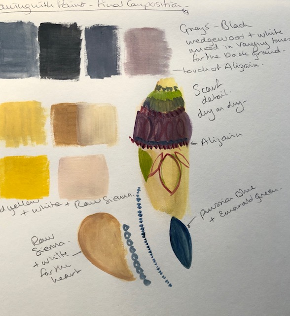 Drawing with paint colours