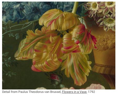Flowers in a vase - Paulus Theodorus van Brussel