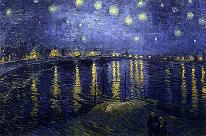 Starry Night Over Rhone 1888 Van Gogh
