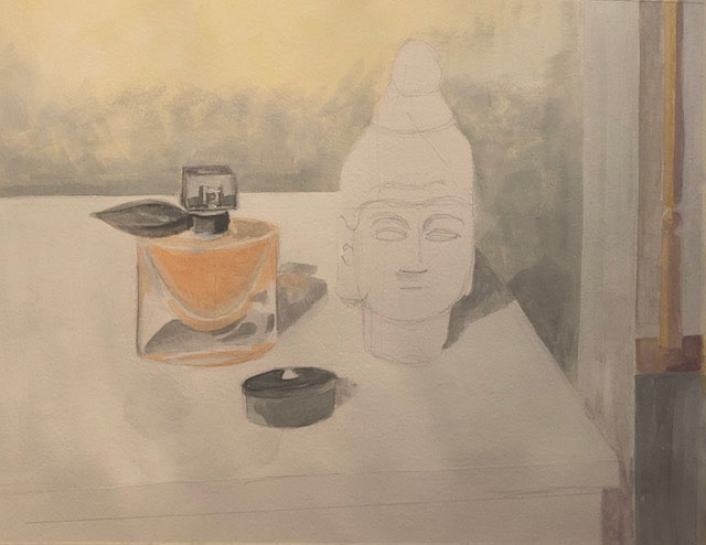 Assignment 2 ~ Buddha and Perfume underpainting