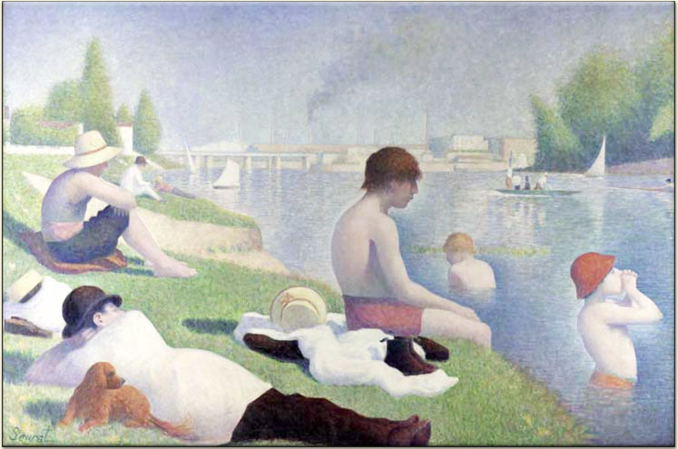 Bathers at Asnieres, 1884. George Seurat